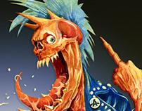 Watercolor Zombie Punk