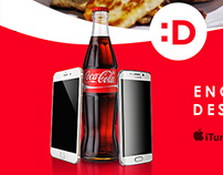 Coca-Cola Destapp activation poster