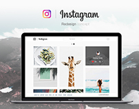 Instagram Website - Redesign