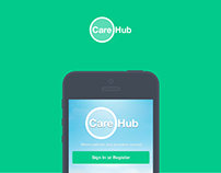 CareHub iPhone App Design