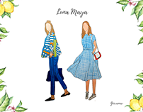 Luna Maya - Fashion Illustration
