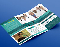 Medical care hospital ''tri fold'' brochure