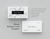 Rinata. Business Card Template [#free]