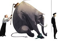 """Character Designs for """"The Elephant Vanishes"""""""