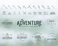Wanderlust Adventure Icons and Logo Pack