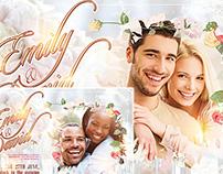 Wedding Invitation FREE PSD Template