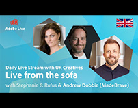 Adobe Live from the sofa UK with Andrew Dobbie