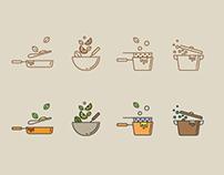 Cooking Techniques Icon Set