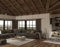 Living attic render Corona