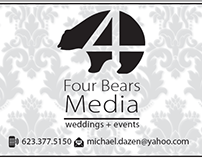 Logo and Business Card Design - Fours Bears Media