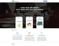 Developer Start Up One Page Design