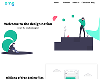 Oing Landing page design