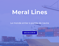 Site web maritime - Meral Lines