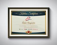 Katılım Sertifikası - Certificate of Participation