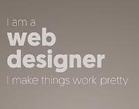 I am a webdesigner