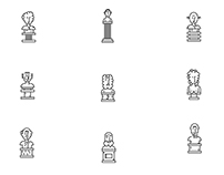 Antique busts icons
