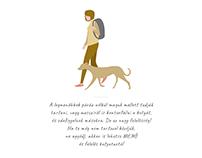 Human and dog Illustration