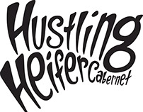 Hustling Heifer Lettering