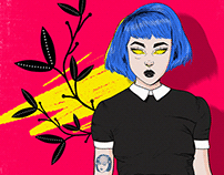 A menina do corredor - Illustration