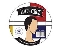 Love le curlz Modern logo
