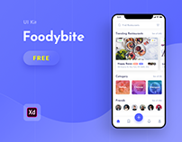 Foodybite - Free UI Kit for Adobe XD