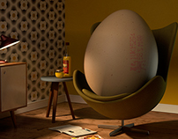Easter 2015 promotion - C4D personal project