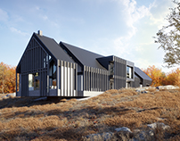 Another modern house in autumn for lk-projekt.pl