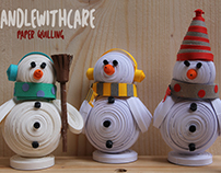 Paper quilling SnowMan