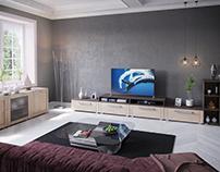 Living room - 3D visualizations