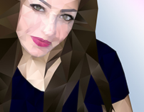 Polygonal portrait gradient