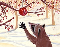 Holiday Card-Raccoon and the Ornament