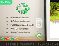 Farm House - One Page Organic Products HTML5 Template