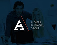 Algiers Financial Group / logo, icon, design / branding