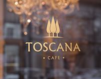 """Logo and branding identity for cafe """"Toscana"""""""