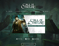Landing Page Game Call of Cthulhu 2019