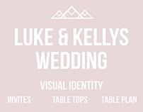 Luke & Kelly's Wedding Visual Identity