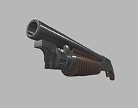 Sawed-Off Pump Action Shotgun