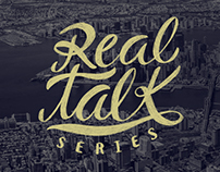 Real Talk Series logo and letterings