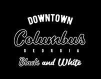 Downtown Columbus Georgia Black and White
