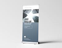 Free roll-up mockup / 100 x 200 cm