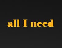 'All I Need Radio Show' Poster Design