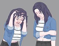 Visual Novel Character Sheets 1