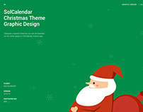 SolCalendar Christmas Theme Graphic Design