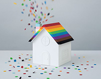 In And Proud - paper craft campaign for Pride 2020