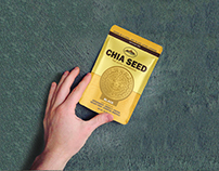 High Andes Traders Chia Stand up Pouch Packaging