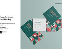 Three Business Card Mockup