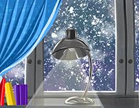 Winter Evening - created in Adobe Project Gemini