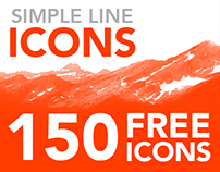 FREE Simple Line Icons - 150 FREE Icons