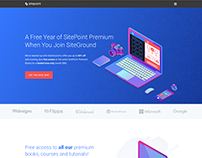Web Design - SitePoint Landing Page