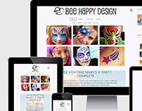 Bee Happy Design Face Painting branding